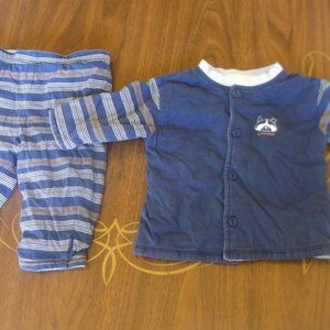 Navy Blue 2 Piece Set Boy 3-6 months